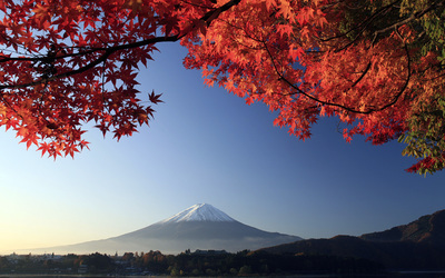 Mount Fuji in autumn wallpaper