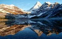 Mount Magog reflected in the lake wallpaper 2560x1600 jpg
