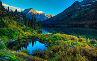 Mountain lakes wallpaper 1920x1200 jpg