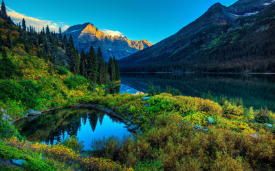 Mountain lakes wallpaper