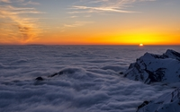 Mountain peaks over the clouds wallpaper 1920x1200 jpg