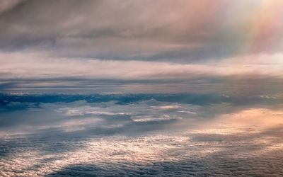 Mountain range above the clouds wallpaper