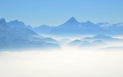 Mountains above the clouds wallpaper