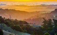 Mountains under the sunset wallpaper 2880x1800 jpg