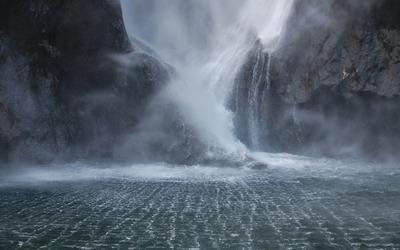Mystic waterfall wallpaper