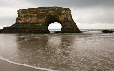 Natural Bridges State Beach wallpaper