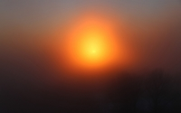 Orange sun piercing through the fog wallpaper 1920x1200 jpg