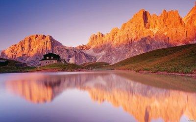 Pala group, the Dolomites Wallpaper