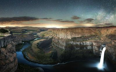 Palouse Falls and Colorado river, Washington wallpaper