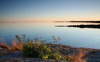 Peaceful lake at sunset wallpaper 2560x1600 jpg