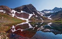 Peak reflecting in the rusty water wallpaper 1920x1200 jpg