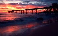 Pier to the sunset wallpaper 2560x1600 jpg