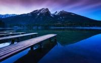 Purple dawn by the lake wallpaper 1920x1200 jpg
