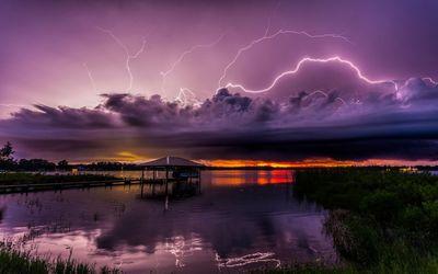 Purple stormy clouds wallpaper