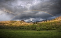 Rainbow in Yellowstone National Park wallpaper 1920x1200 jpg