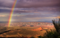 Rainbow over Atacama Desert in Chile wallpaper 1920x1200 jpg
