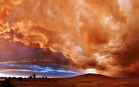 Red clouds at sunset wallpaper 1920x1200 jpg