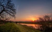River at sunset wallpaper 1920x1200 jpg