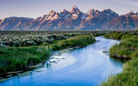 River in Grand Teton National Park wallpaper 1920x1200 jpg