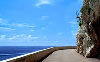 Road on the ocean coast wallpaper 2560x1600 jpg
