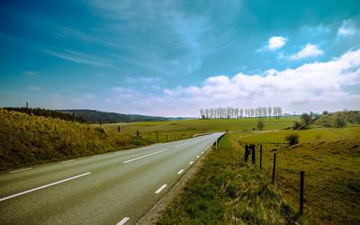 Road through Smaland, Sweden wallpaper