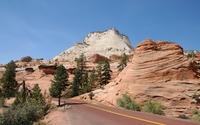 Road through the rocky peaks wallpaper 2560x1600 jpg