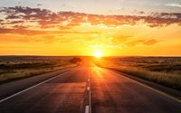 Road towards the golden sunset wallpaper 3840x2160 jpg