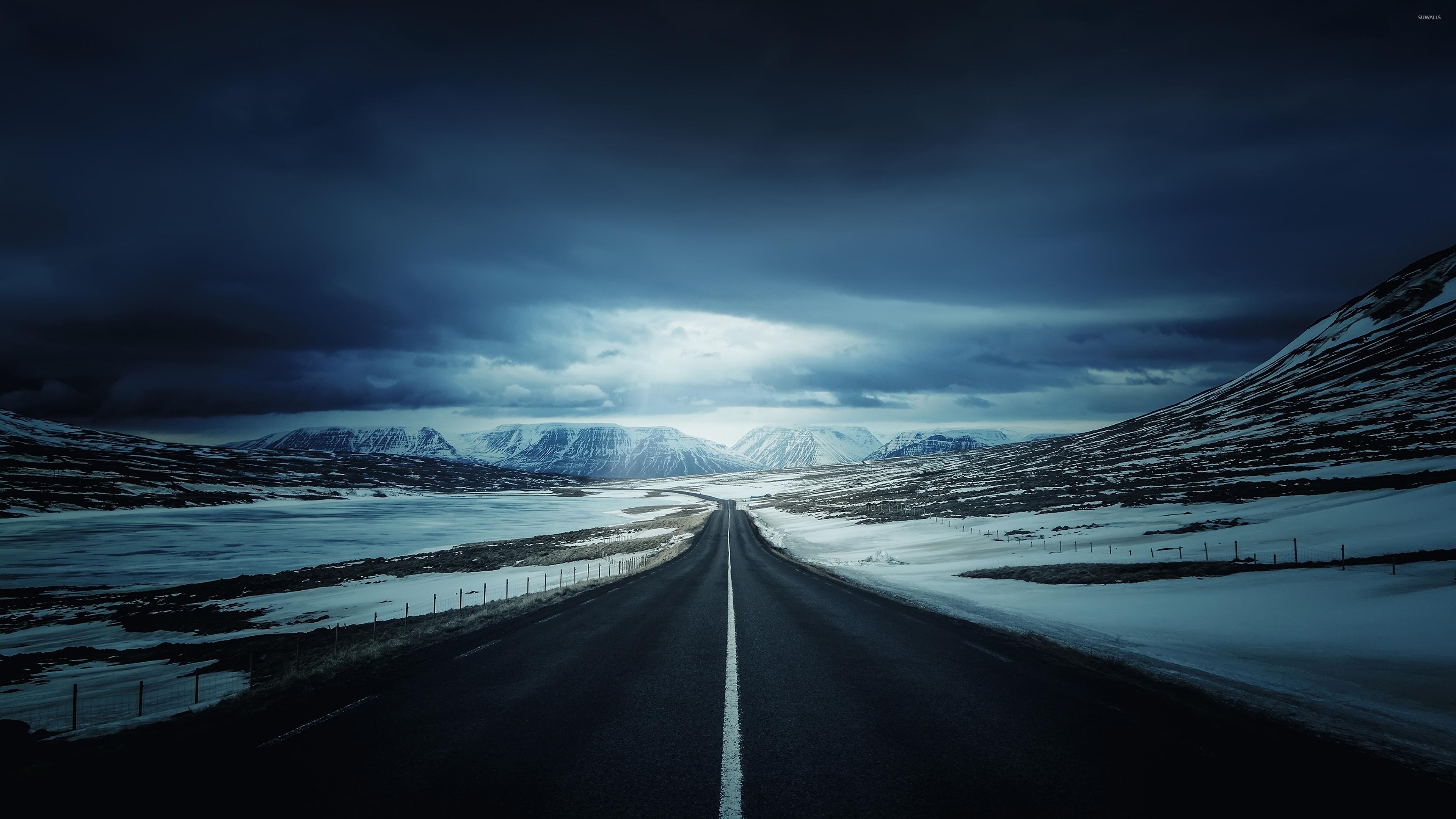 towards the snowy - photo #3