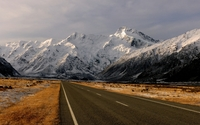 Road towards the snowy mountains [3] wallpaper 1920x1200 jpg