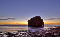 Rock arch at sunset wallpaper 2560x1600 jpg