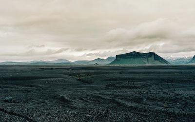 Rocks on the lava field wallpaper