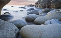 Rocks rising from the water wallpaper 1920x1080 jpg
