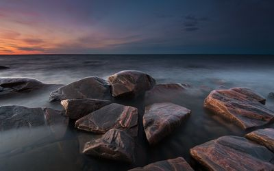 Rocky coast in Varmland, Sweden wallpaper