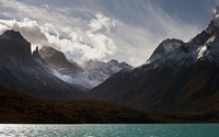 Rocky mountains by the water wallpaper 1920x1200 jpg