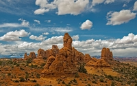 Rocky temple near the canyon wallpaper 1920x1200 jpg