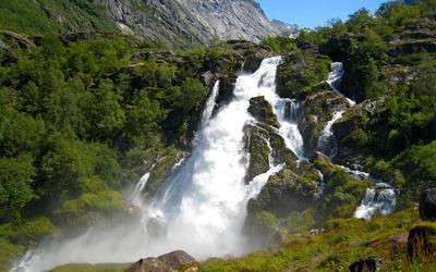 Rocky waterfall [3] wallpaper