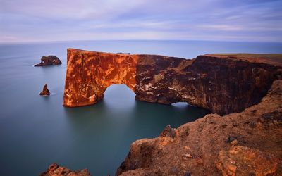Rusty arch over the water wallpaper