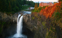 Rusty rocks by Snoqualmie Falls wallpaper 1920x1200 jpg