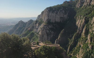 Santa Maria de Montserrat Abbey wallpaper