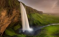 Seljalandsfoss waterfall wallpaper 1920x1200 jpg