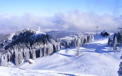 Ski slope wallpaper