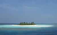 Small island in the ocean wallpaper 3840x2160 jpg