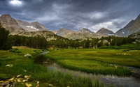Small mountain river in the valley wallpaper 3840x2160 jpg