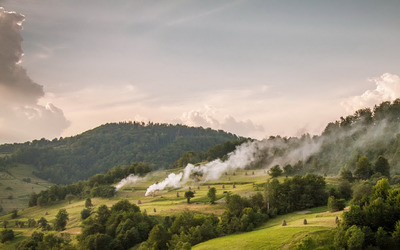 Smoky mountain hills wallpaper