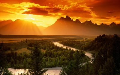 Snake river, Grand Teton National Park wallpaper