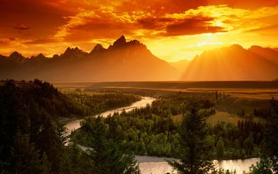 Snake River in Grand Teton National Park wallpaper