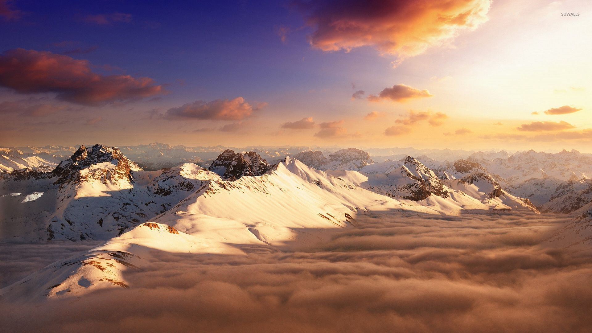 Good Wallpaper Mountain Cloud - snowy-mountain-peaks-above-the-clouds-26426-1920x1080  Collection_23387.jpg