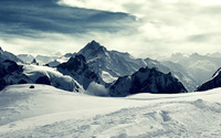 Snowy mountains wallpaper 1920x1200 jpg