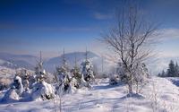 Snowy mountains [21] wallpaper 1920x1200 jpg