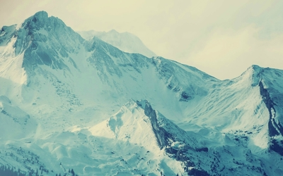 Snowy mountains [15] wallpaper